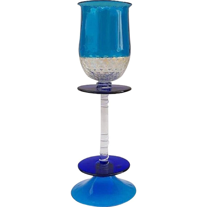 Vintage 'Memphis' glass by Ettore Sottsass for Formia, 1985