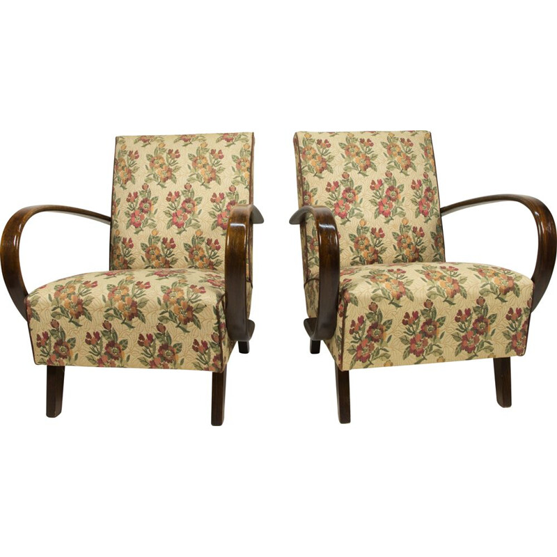 Pair of Armchairs by Jindrich Halabala, 1940s