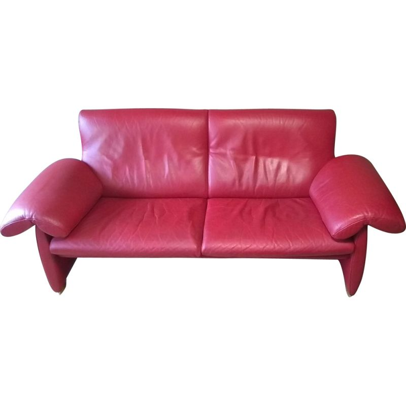 Vintage sofa DS1023 red De Sede 2000