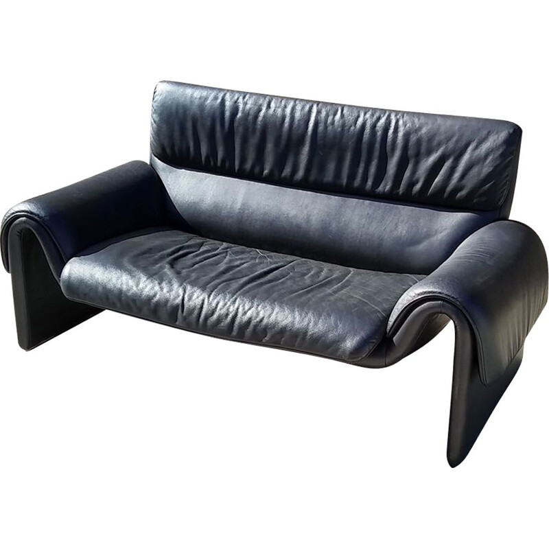 Vintage sofa DS201112 black de Sede 2000