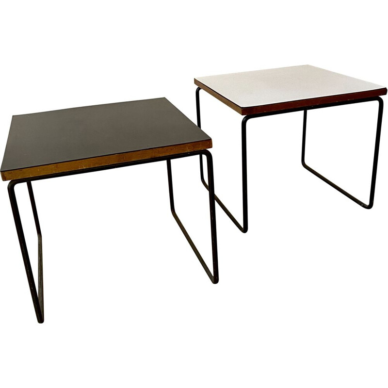 Pair of P. Guariche 1950 vintage flying tables
