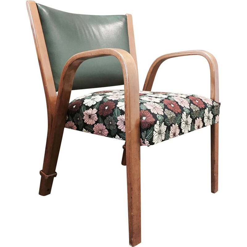 Vintage Bow Wood Steiner armchair 1950