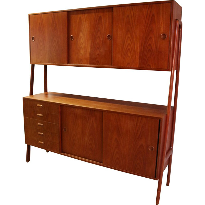 Vintage teak highboard from Gunni Omann Danish 1960s