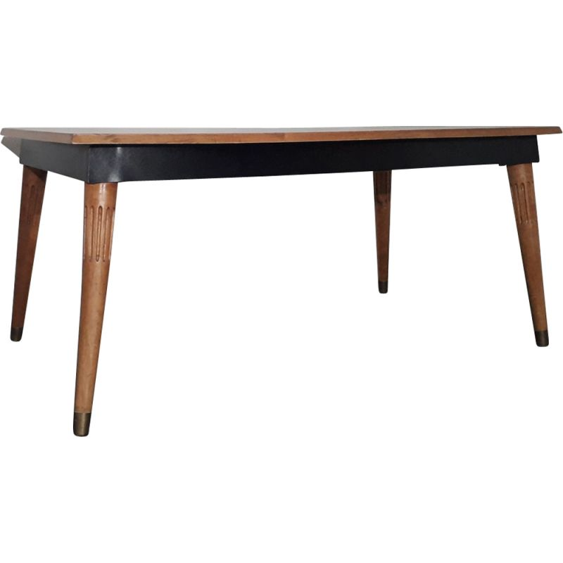 Vintage oak table Gio Ponti 1950