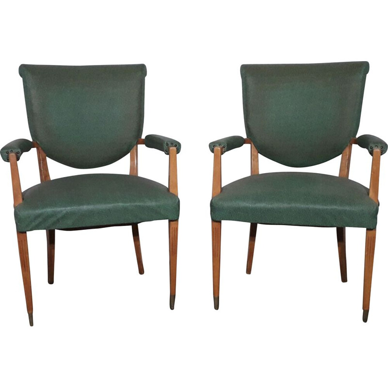 Pair of vintage armchairs Gio Ponti 1950