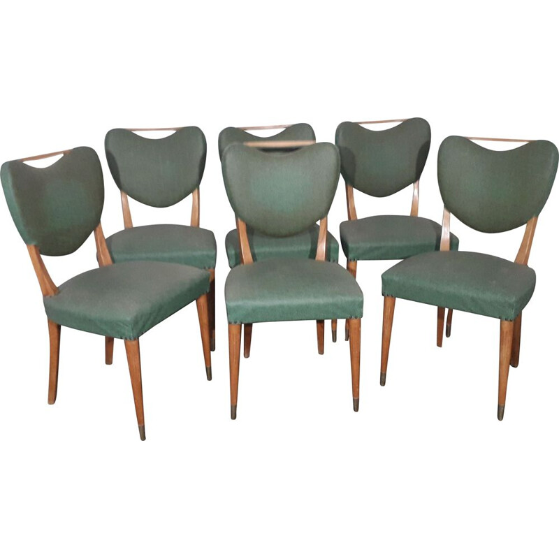 Set of 6 chairs by Gio Ponti 1950