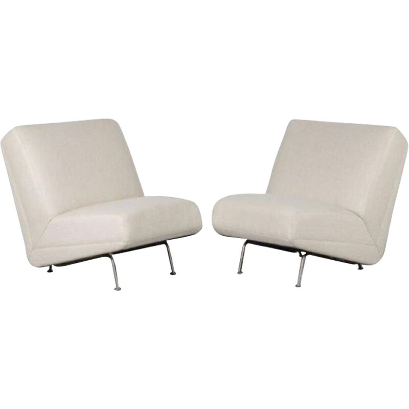 Pair of vintage Lounge Chairs  or Sofa parts by Theo Ruth for Artifort 1950