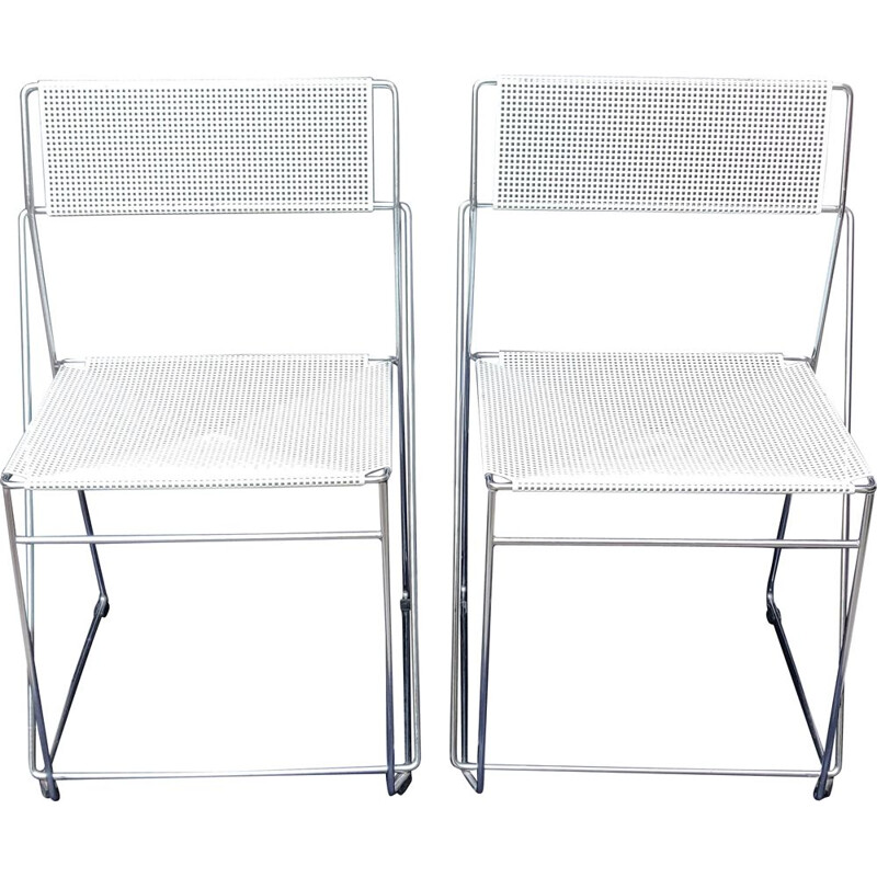 Pair of vintage chairs by Niels Jorgen Haugesen for Hybodan