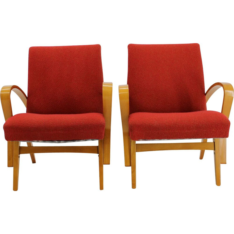 Pair of vintage armchairs by Frantisek Jirak, 1960s