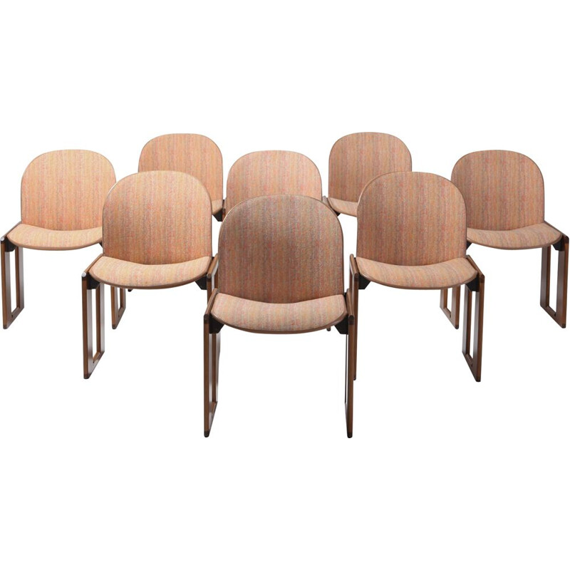 Set of 8 vintage chairs Model 121 by Afra and Tobia Scarpa for Cassina, Italy, 1965