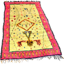 Ourika rug in yellow and pink wool - 1980s