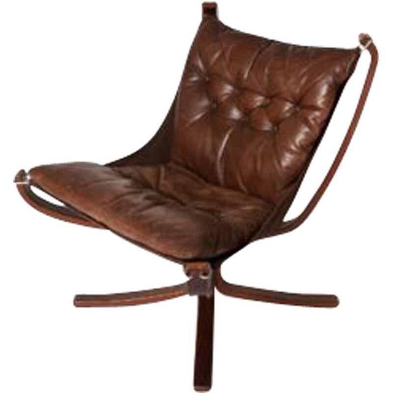 Falcon Chair mid century Low Back (Stained)  by Sigurd Ressell and Vatne Mobler 1970