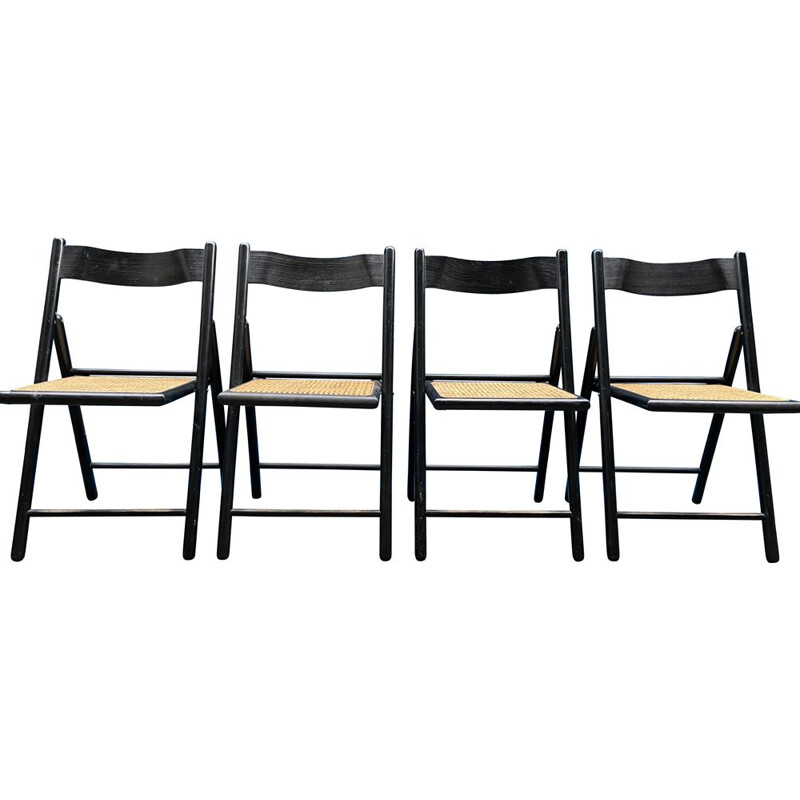 Set of 4 vintage folding chairs 1960
