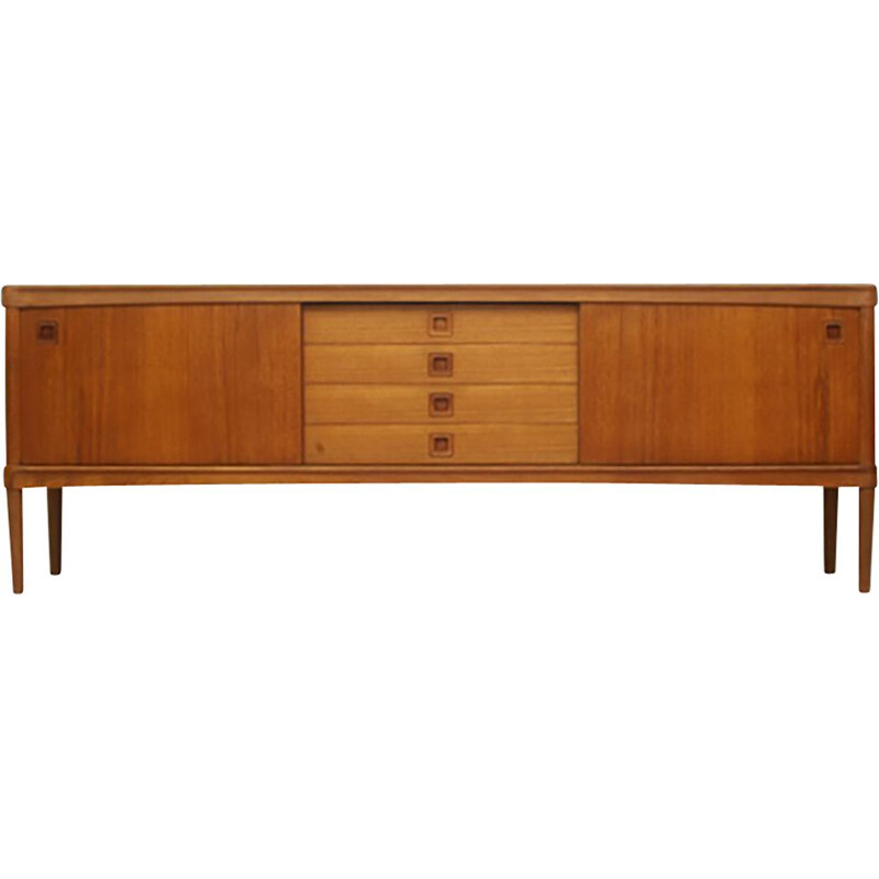 Vintage Teak Sideboard With Sliding Doors by Henry W. Klein for Bramin Møbler, Danish 1960s