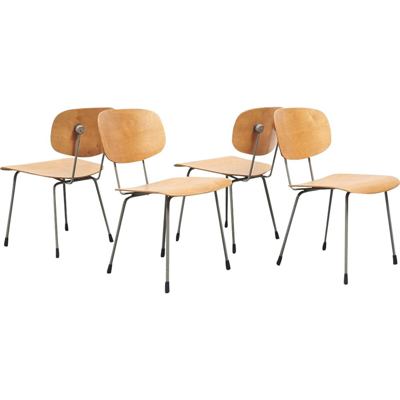 Set of 4 vintage chairs 116 by Wim Rietveld 1953