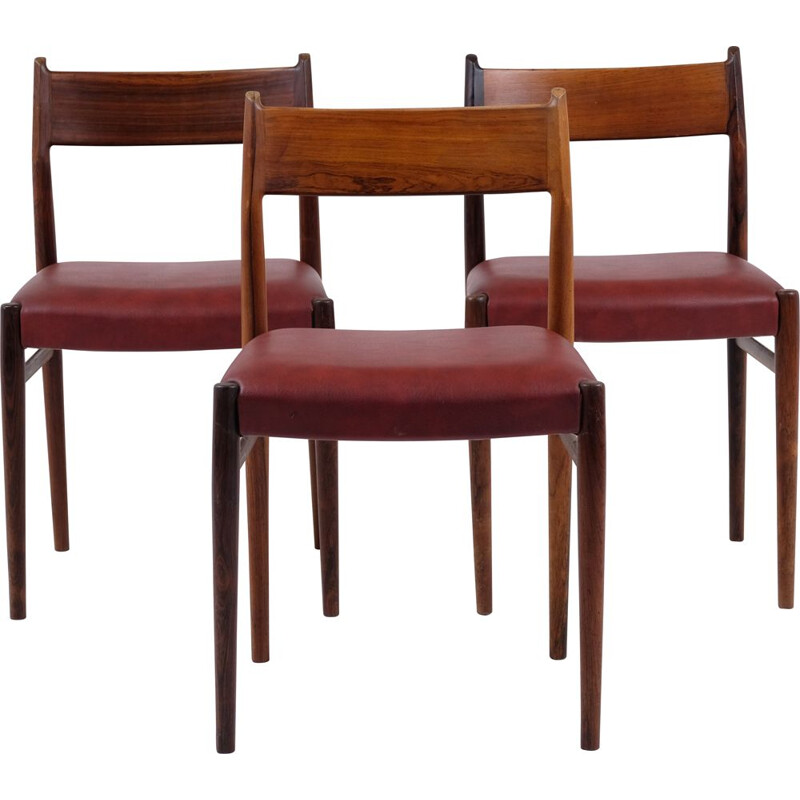 Vintage rosewood Sibast chairs by Arne Vodder 1960