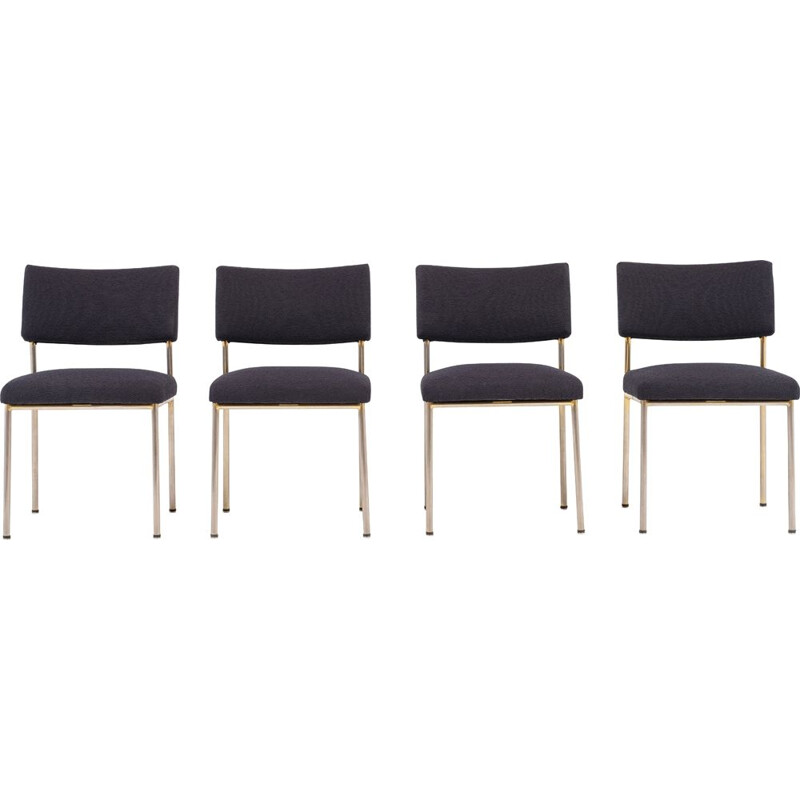 Set of 4 vintage chairs by Joseph André Motte for Steiner