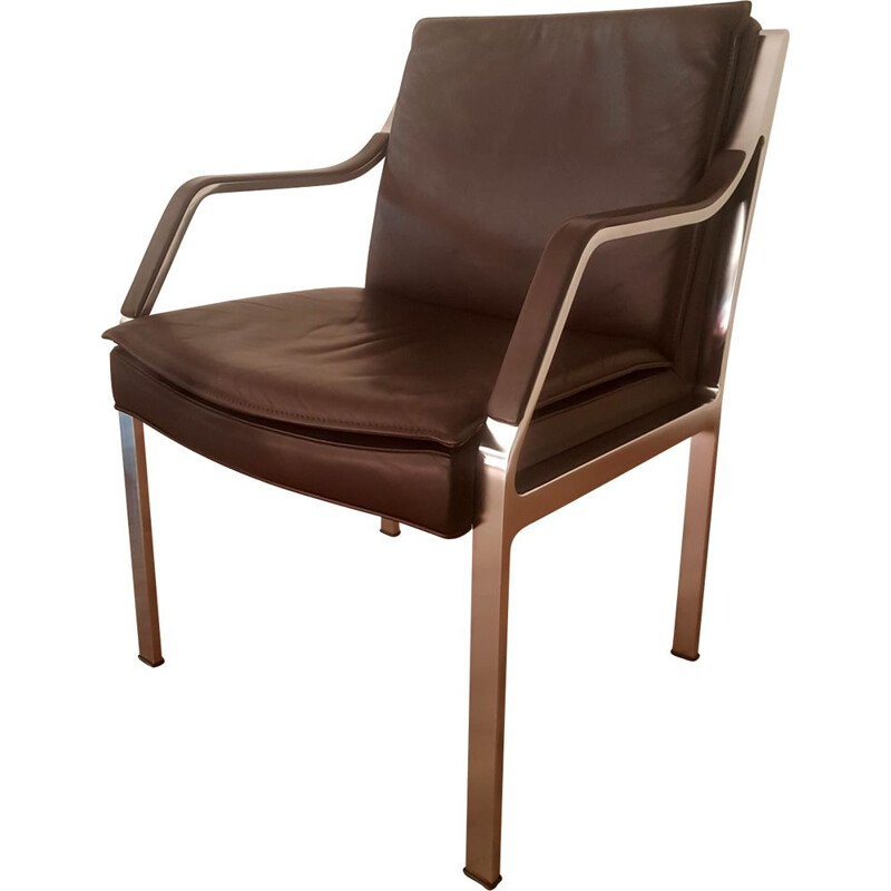 Vintage Leather Easy Chair by Rudolf B. Glatzel for Knoll