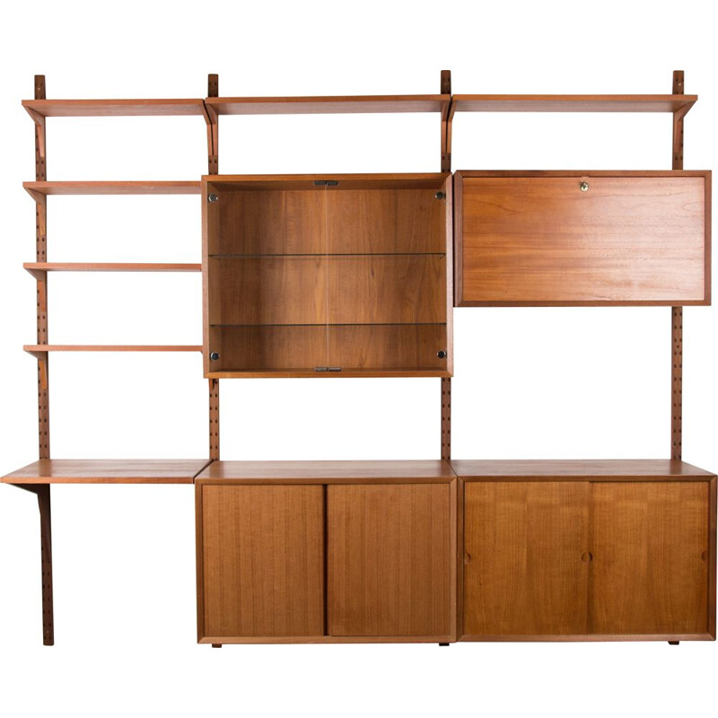 Vintage large modular Danish Teak Shelf by Poul Cadovius 1960