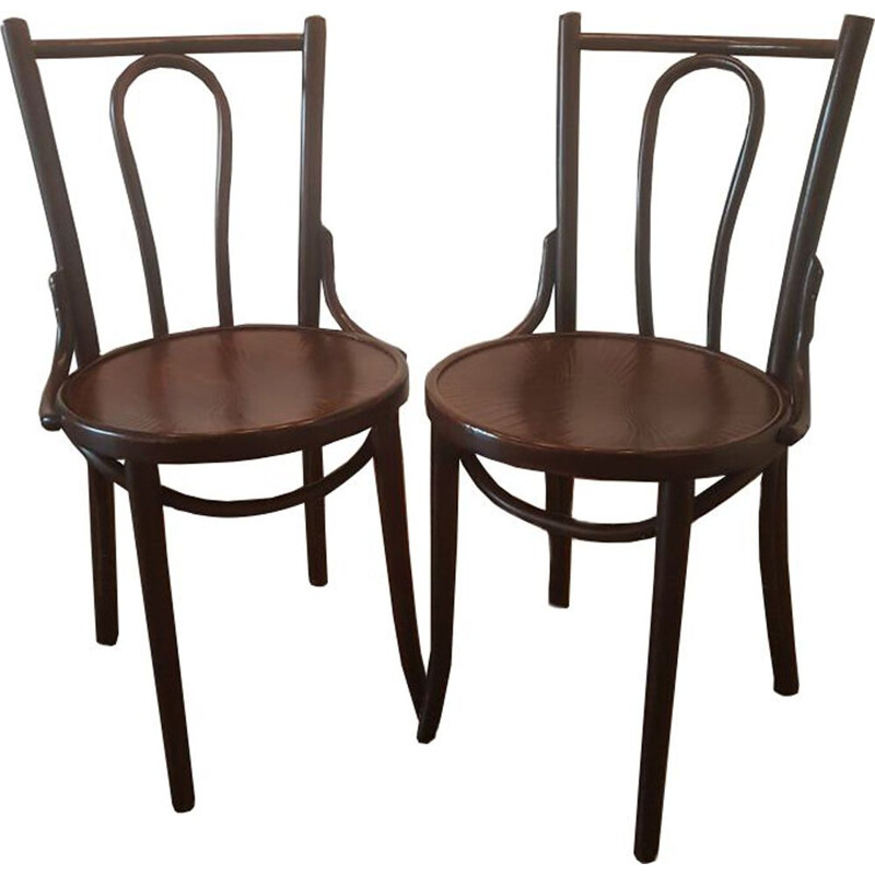 Pair of  vintage dining chairs from ZPM Radomsko, 1930s