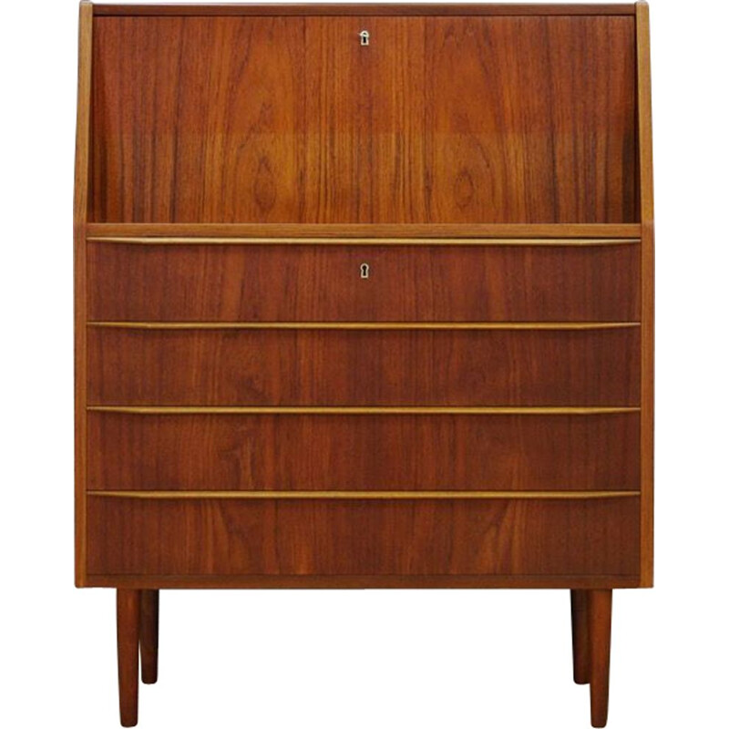 Vintage Danish secretary in teak 1970s