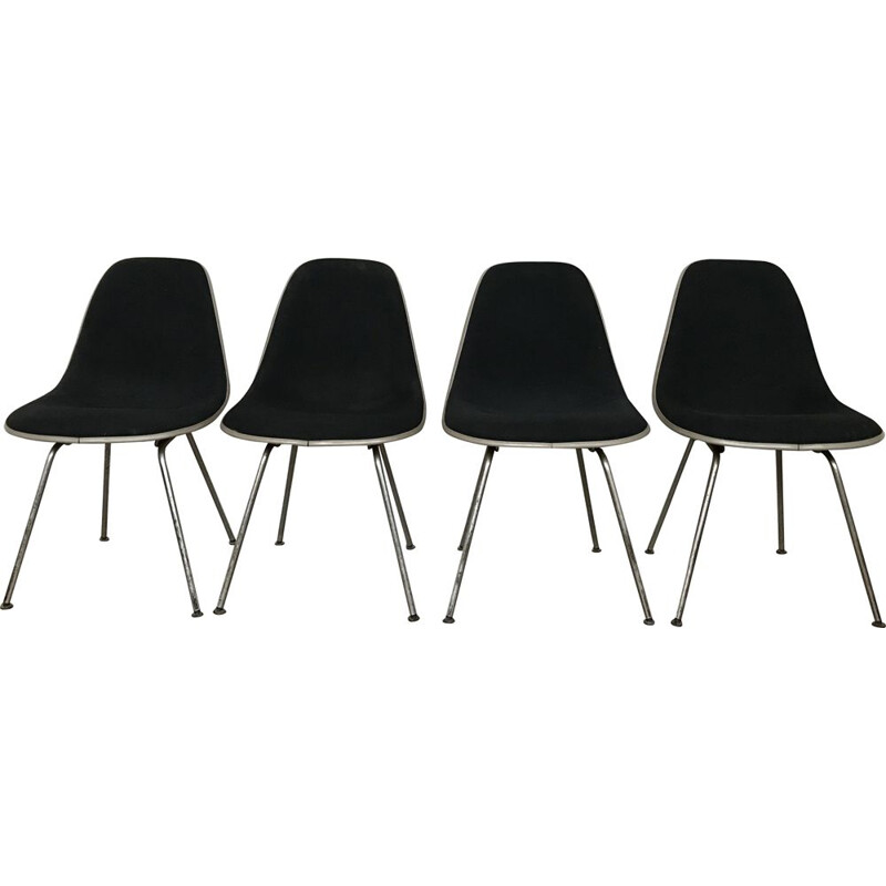 Set of 4 vintage chairs dsx by Charles Eames by Herman Miller 1970