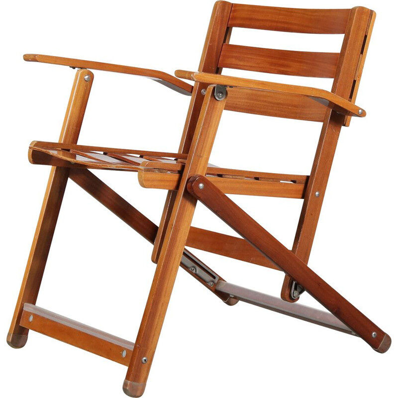 Vintage Folding chair by Ico Parisi for Fratelli Reguitti, Italy 1970s