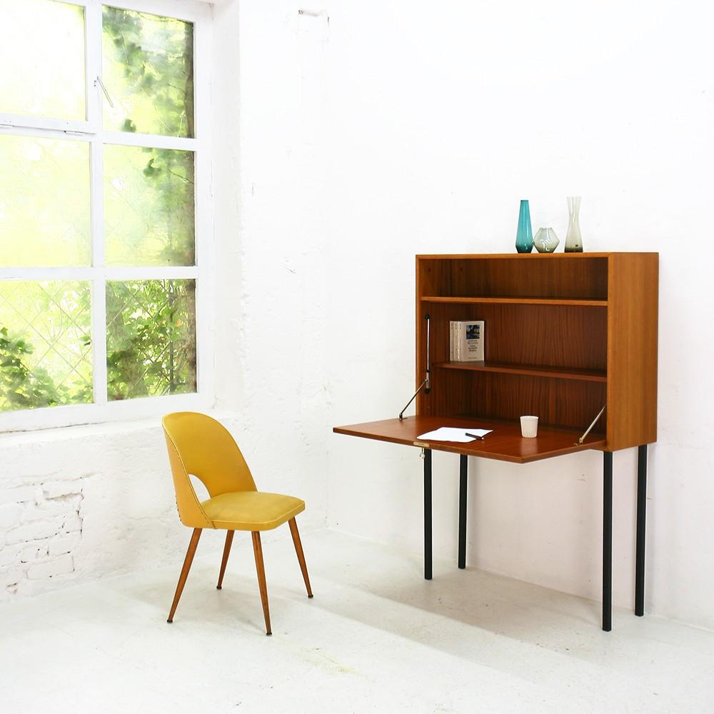 Slim teak secretaire by WK Möbel - 1960s - Design Market