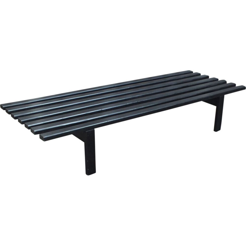 BZ72 black slatted bench by Martin Visser for 't Spectrum 1973