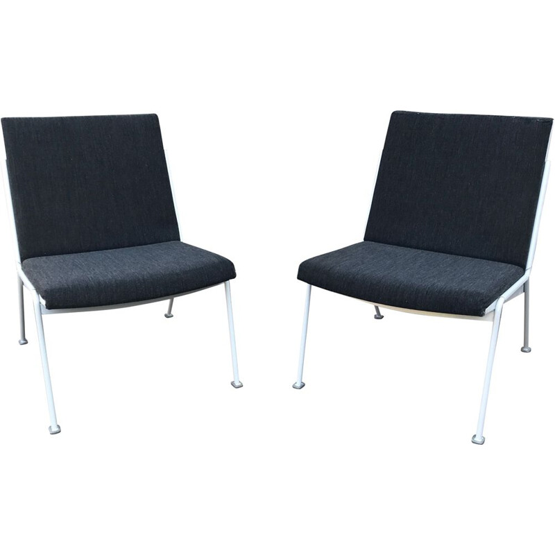 Pair of Vintage Oase easy chairs by Wim Rietveld for Ahrend de Cirkel 1972