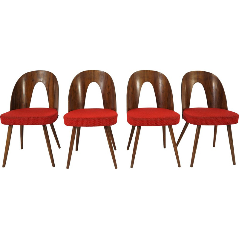 Set of 4 vintage Dining Chairs by Antonín Suman, 1960s,