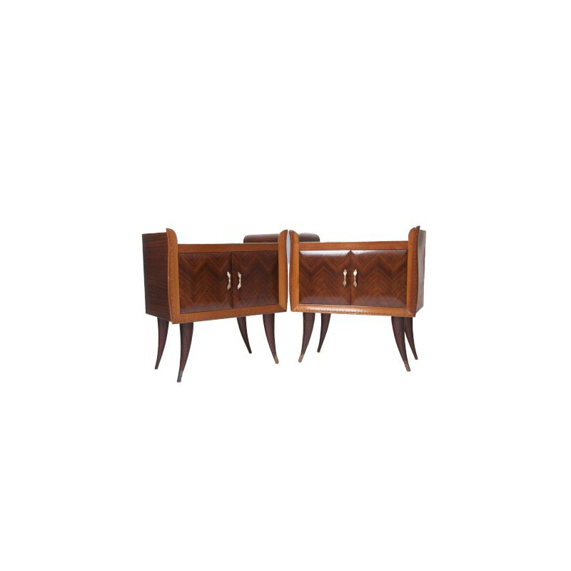 Pair of bedside tables vintage Italian 1940s