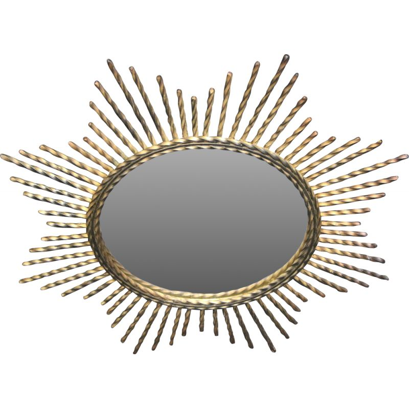 Vintage Sun Mirror with metal pens  French
