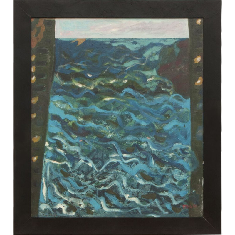 """Vintage """"Mare"""" by Togo Oil on canvas, Italy, 1985"""