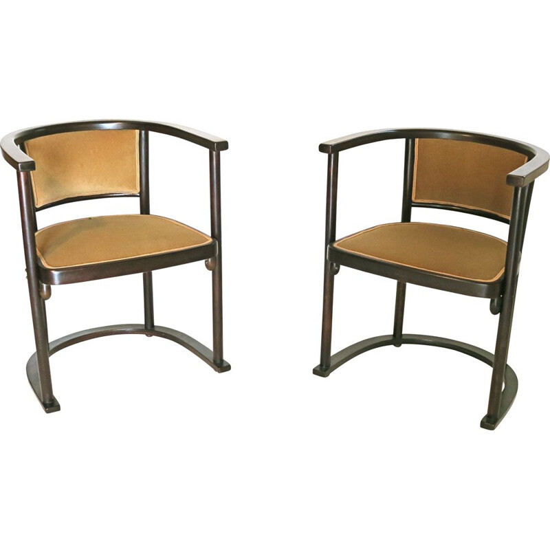 Pair of vintage armchairs by Joseph Hoffmann for Thonet