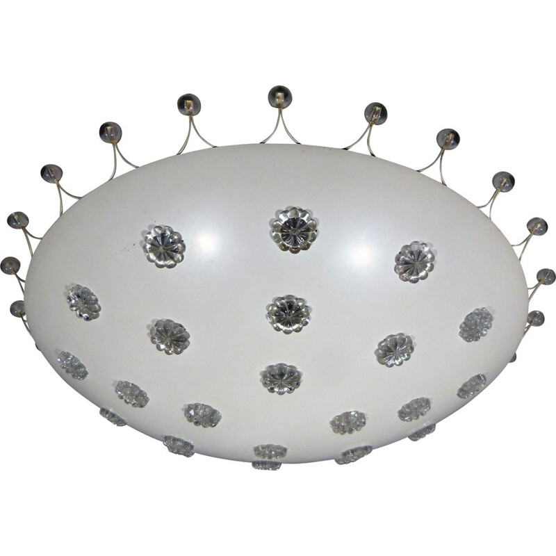 Large vintage ceiling lamp by Emil Stejnar for Rupert Nikoll, Austria 1950