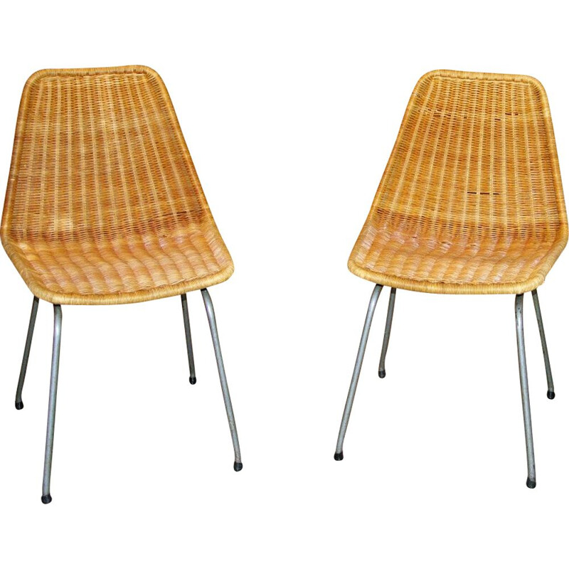 Pair of vintage chairs by Dirk Van Sliedregt 1960