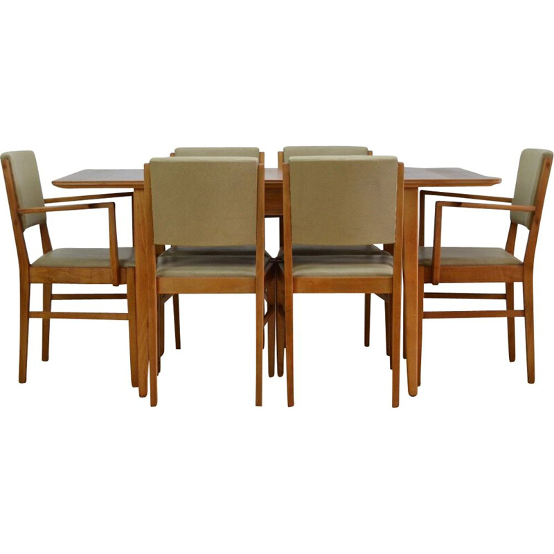 Mid Century Dining Table and Chairs by Gordon Russell 1950s