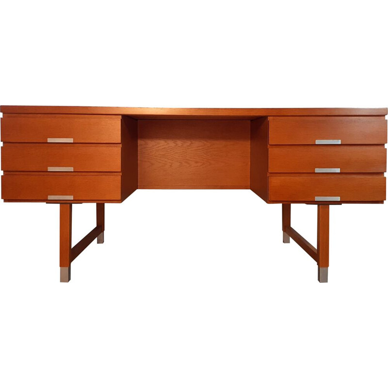Vintage Oak Desk by Kaï Kristiansen, Danish 1960