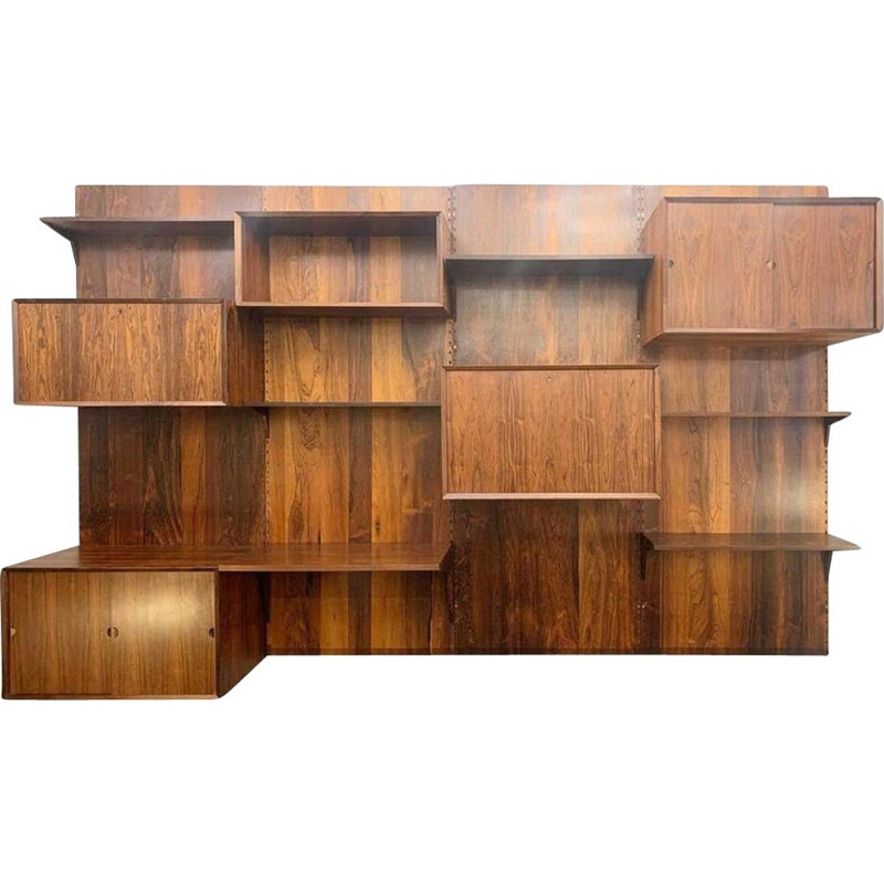 Vintage wall unit by Poul Cadovius - Denmark 1960
