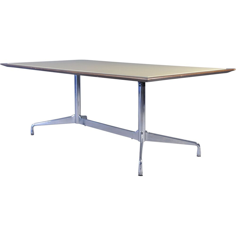 Vintage Segmented Base Rectangular Table by Ray and Charles Eames for Vitra, 1964s