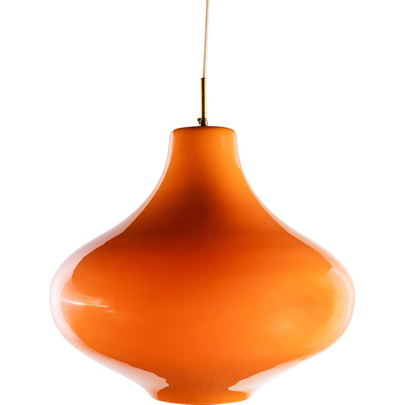 Vintage Hanging lamp Cipolla by Massimo Vignelli