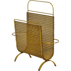 Artimeta Soest magazine rack in yellow metal, M MATEGOT - 1950s
