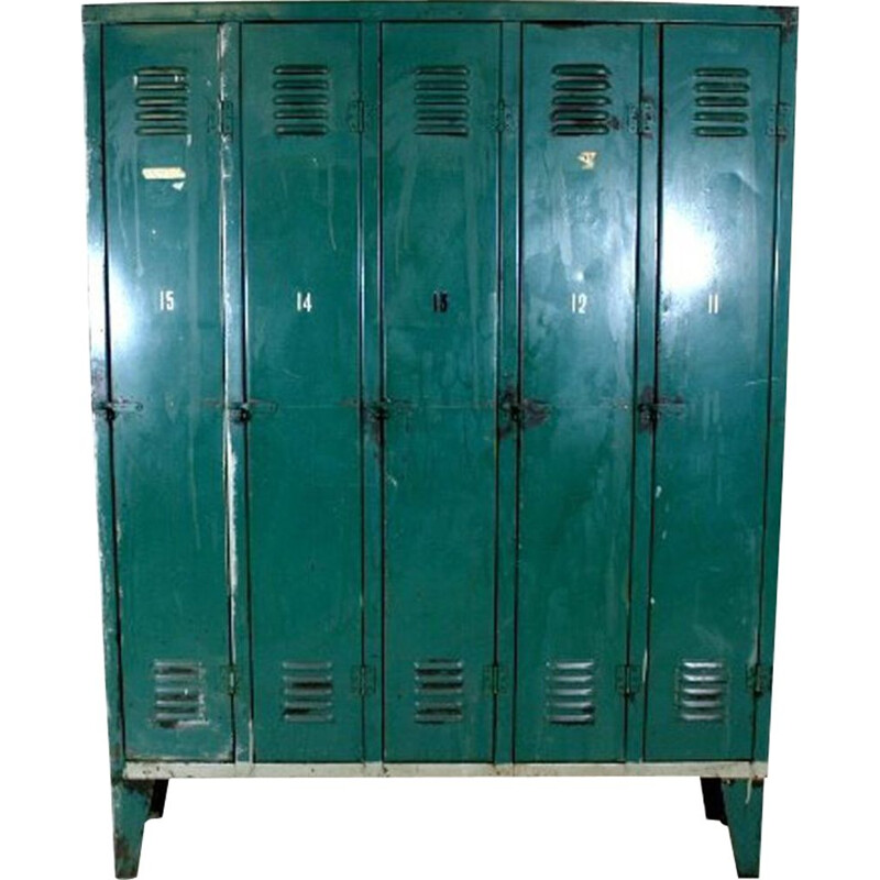 Vintage metal locker 4 doors 1950