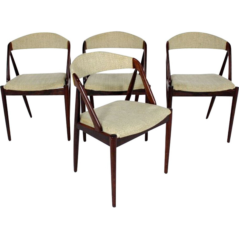 Set of 4 vintage teak chairs model 31 Kai Kristiansen for Schou Andersen, 1960