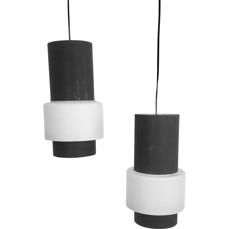 Pair of pendant lamps, Louis Kalff for Philips, model NT61 1960