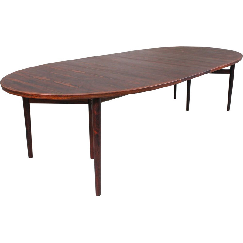 Vintage Dining Table by Arne Vodder for Sibast, Danish Rosewood Model 212 1960s