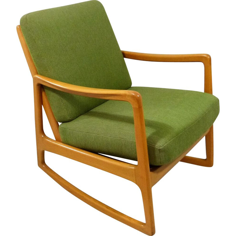 Vintage Rocking Chair Model 120 by Ole Wanscher for France and Daverkosen, Denmark 1950