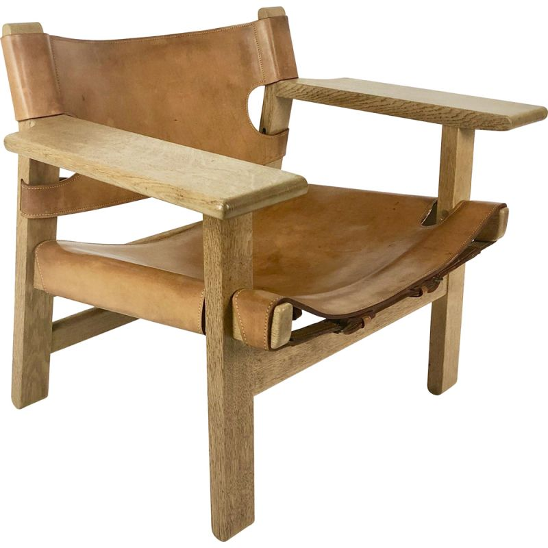 Vintage armchair by Borge Mogensen for Spanish Fredericia 1958
