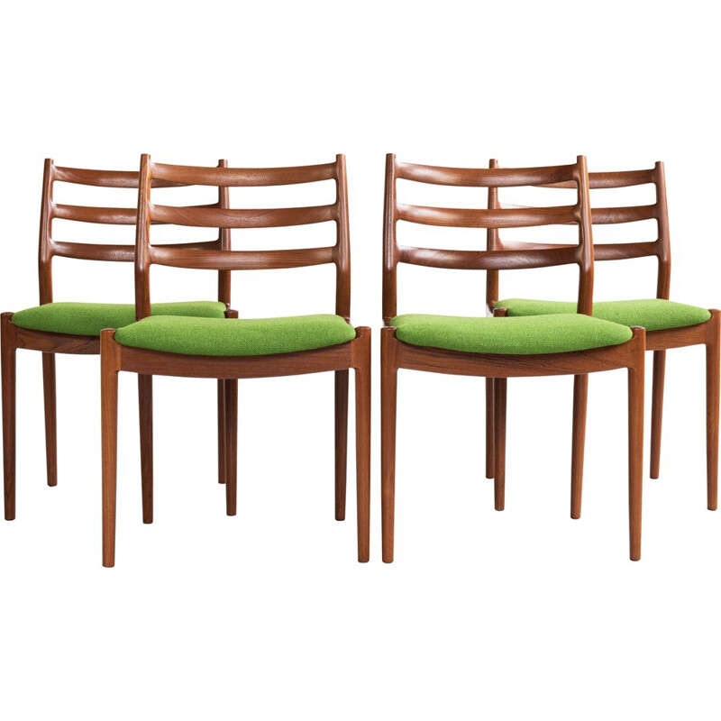 Midcentury set of 4 dining chairs in teak by Arne Vodder for France and Søn 1960s